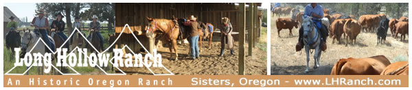 Visit Long Hollow Ranch in Sisters, Oregon!