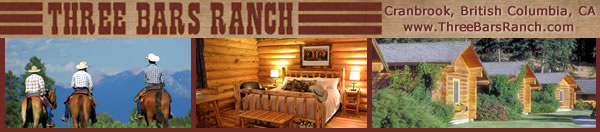 Visit Three Bars Ranch in Cranbrook, British Columbia, Canada!