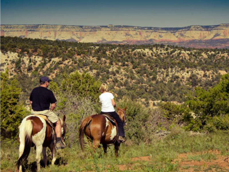 Horseback riding at Utahs Zion Mountain Ranch