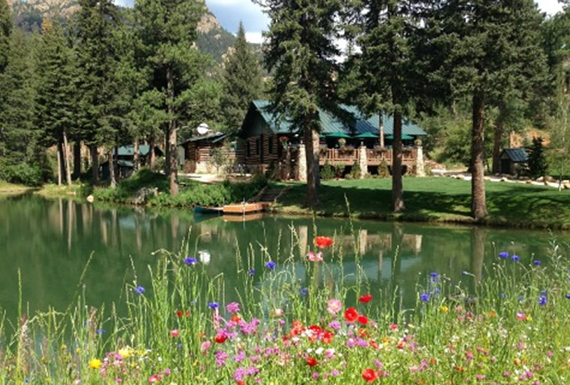 The lodge at Broadmoor Wilderness Experience in Colorado Spring, Colorado