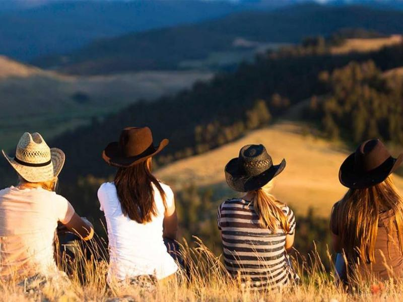 Hiking in the breathtaking views of Montana at The Ranch at Rock Creek