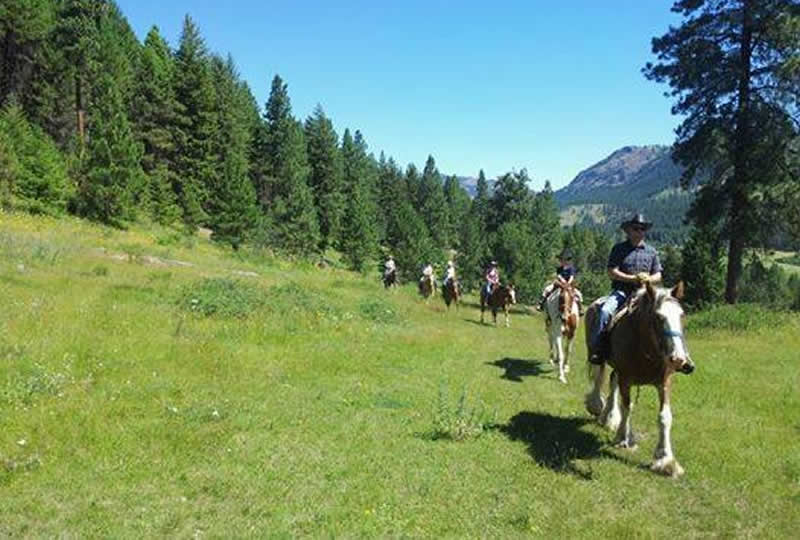 Horseback riding at K-Diamond-K Guest Ranch in Washington