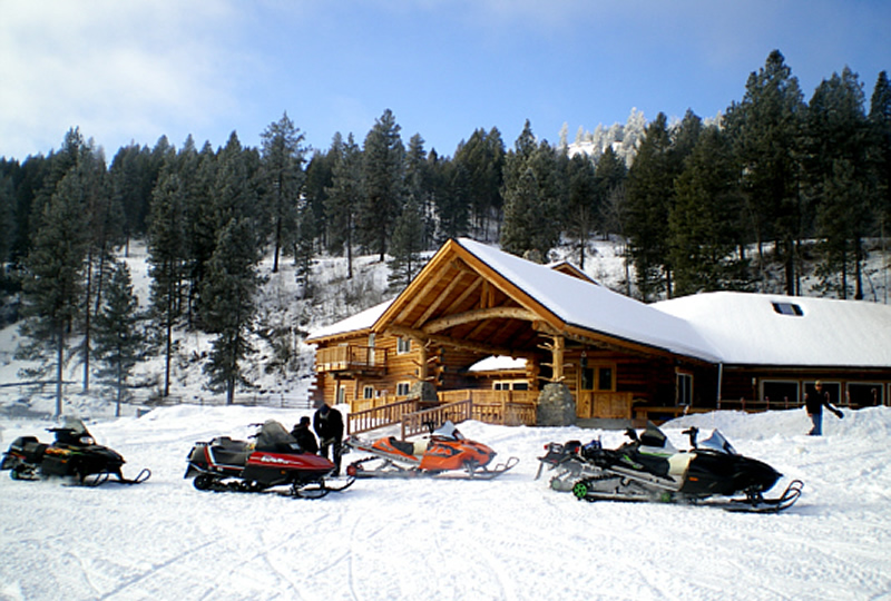 Snowmobiling at K-Diamond-K Guest Ranch in Washington