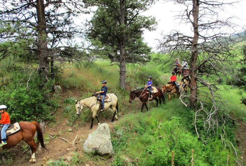 Horseback riding at Sylvan Dale Guest Ranch in Loveland, Colorado