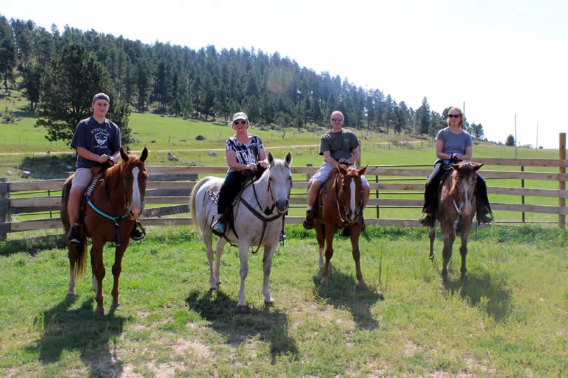 Horseback riding at Ghost Canyon Ranch in South Dakota
