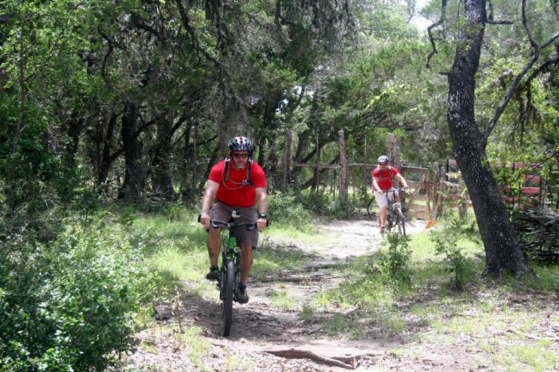 Biking at West 1077 Guest Ranch in Texas