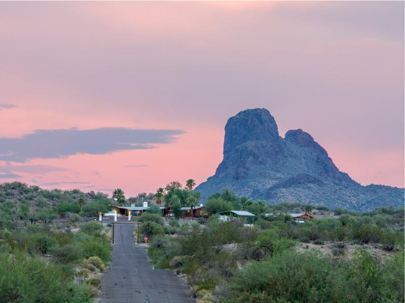 Flying E Ranch known as the riding ranch in the Arizona Sonoran Desert