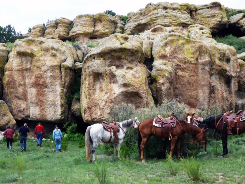 Concho Hills Guest Ranch horseback riding in the foothills of New Mexico San Mateo Mountains