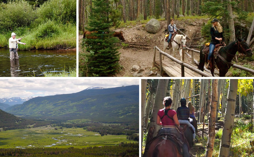Activities at Rawah Ranch in Glendevey, Colorado