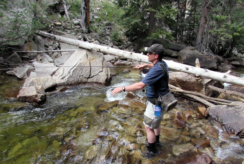 Fly Fishing at Deer Valley Ranch in Nathrop, Colorado