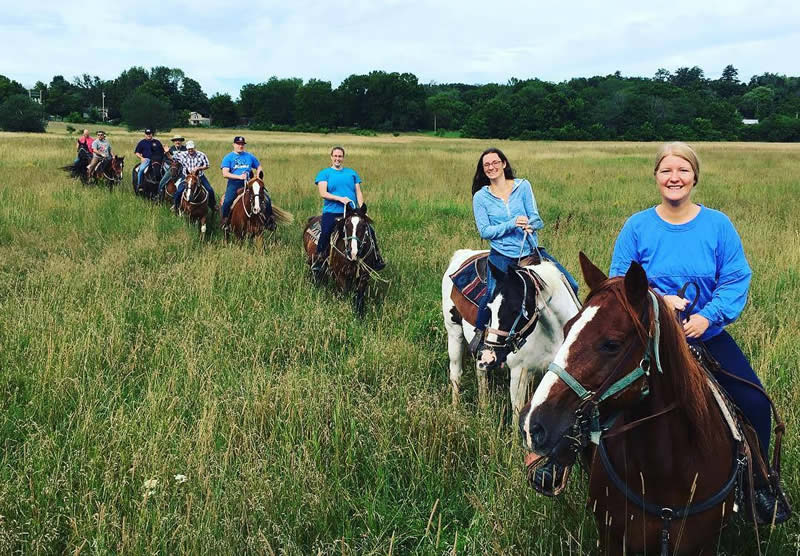 Horseback riding at Pine Ridge Dude Ranch in Kerhonkson, New York