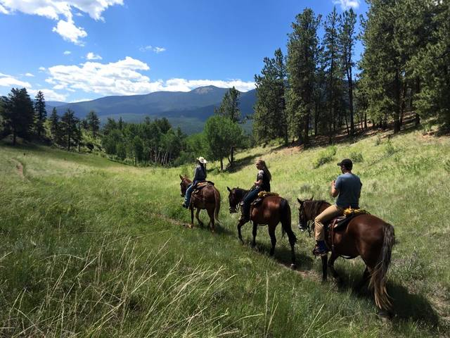 Horseback riding at the North Fork Ranch in Shawnee, Colorado!
