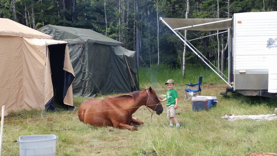 The Camp at Sturgeon River Ranch in Canada