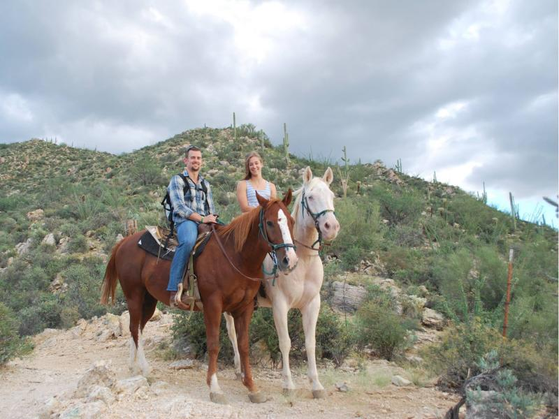 Horseback riding at Arizona guest ranch Tanque Verde Ranch