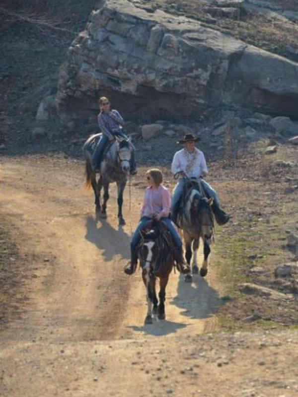 Horseback riding at Horseshow Canyon Guest Ranch in Arkansas