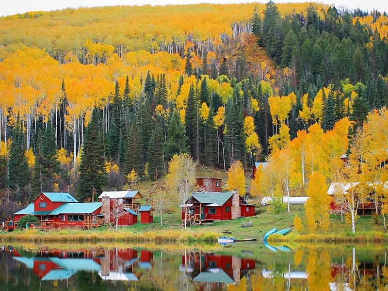 Fall colors at Coulter Lake Guest Ranch