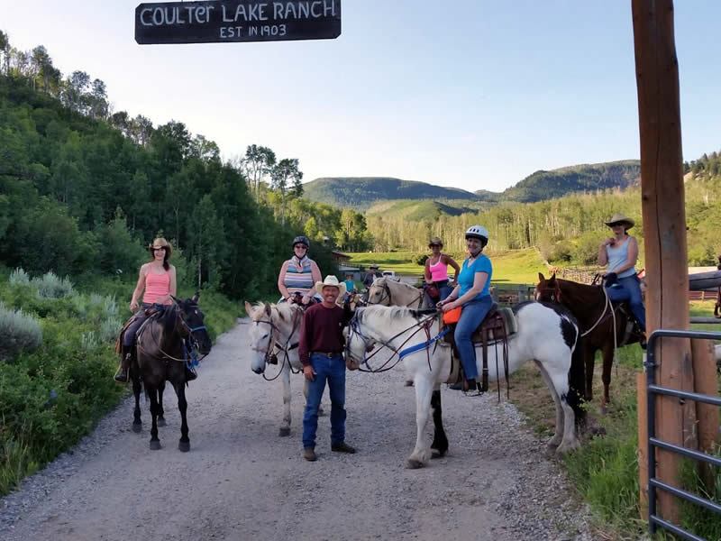 Horseback riding at Coulter Lake Guest Ranch