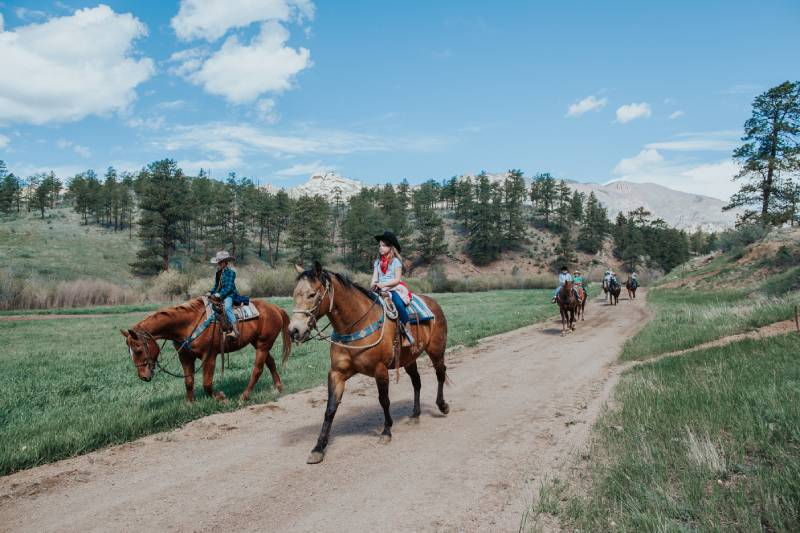 Horseback riding at Lost Valley Ranch in Colorado.