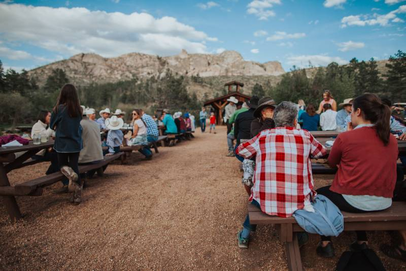 Great food and picnics at Lost Valley Ranch in Colorado.