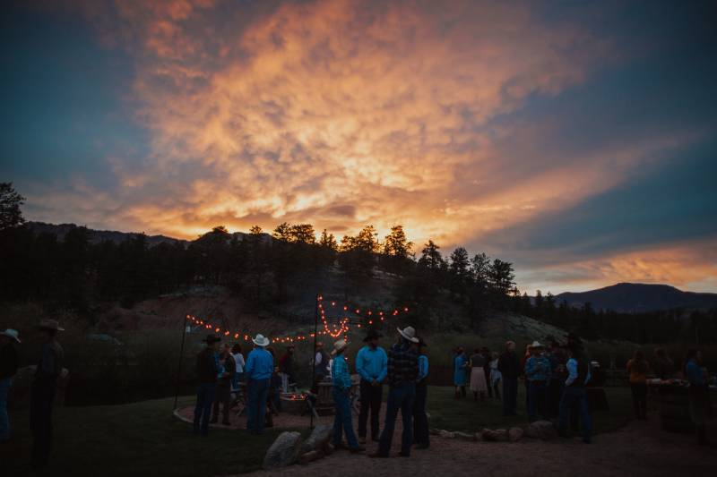 Stunning sunsets at Lost Valley Ranch in Colorado.