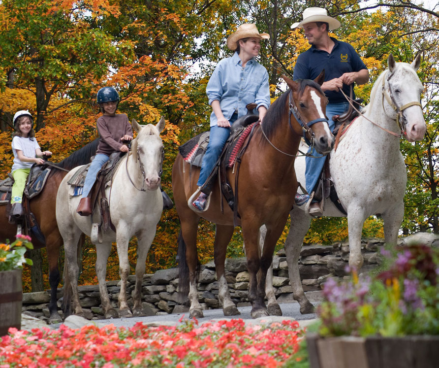 Horseback riding at Rocking Horse Ranch in Highland, NY