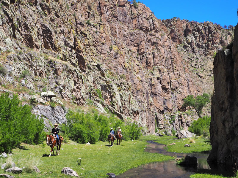 Horseback riding in New Mexico with Geronimo Trail Guest Ranch