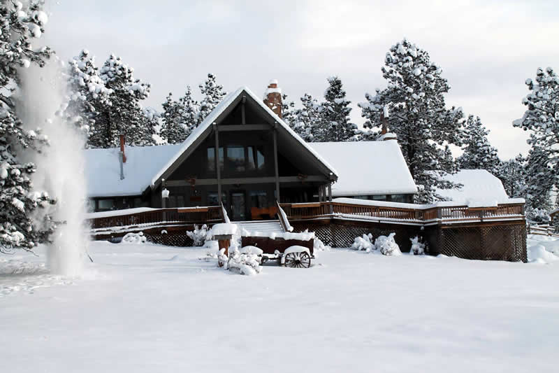 Winter at Sundance Trail Ranch in Red Feather Lakes, Colorado