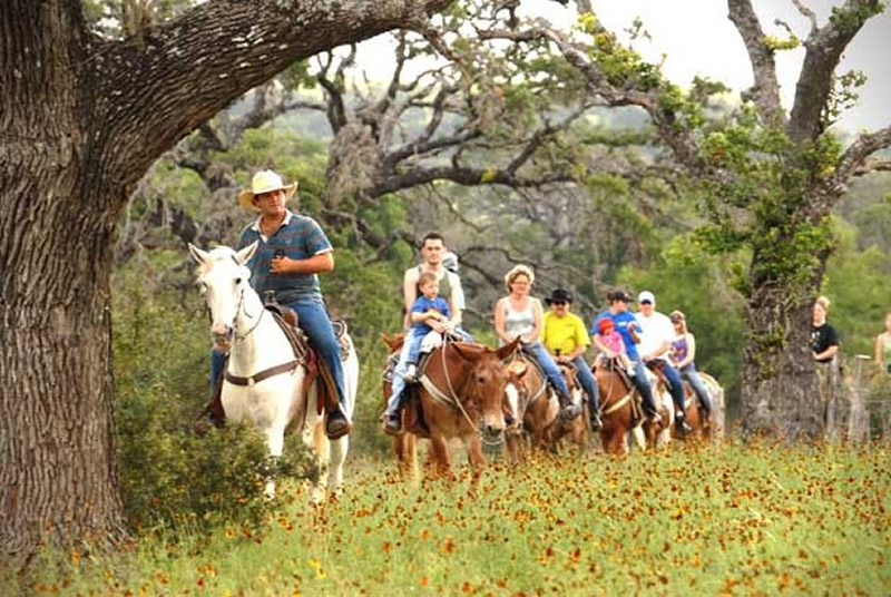 Horseback riding at Dixie Dude Ranch in Texas