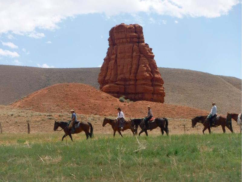 The Hideout Lodge & Guest Ranch offering riding Wyoming in the heart of beautiful Shell Valley near Greybull, Wyoming