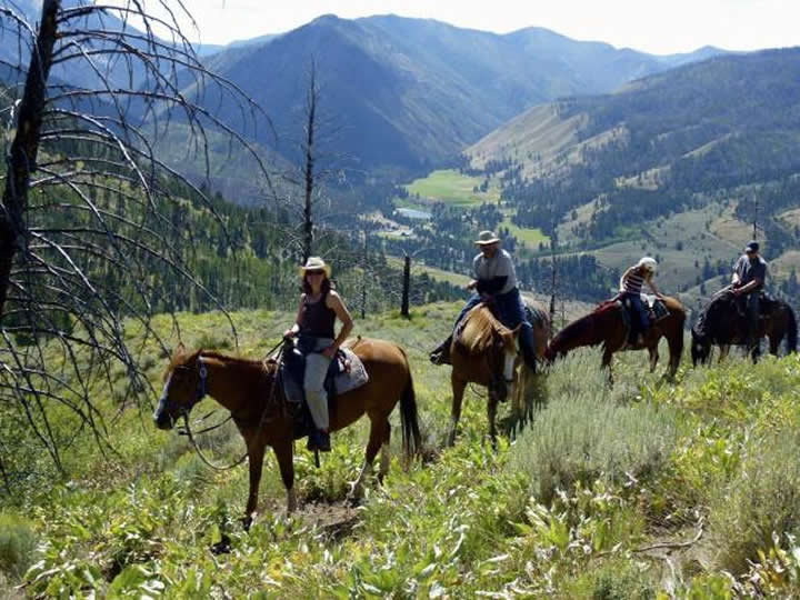 Horseback riding at Diamond D Ranch in Idaho