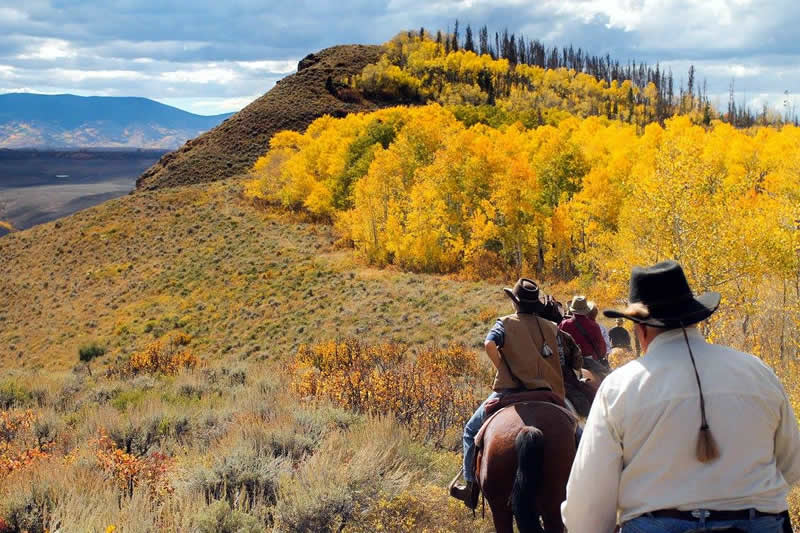 Horseback riding at Bar Lazy J Ranch in Parshall, Colorado