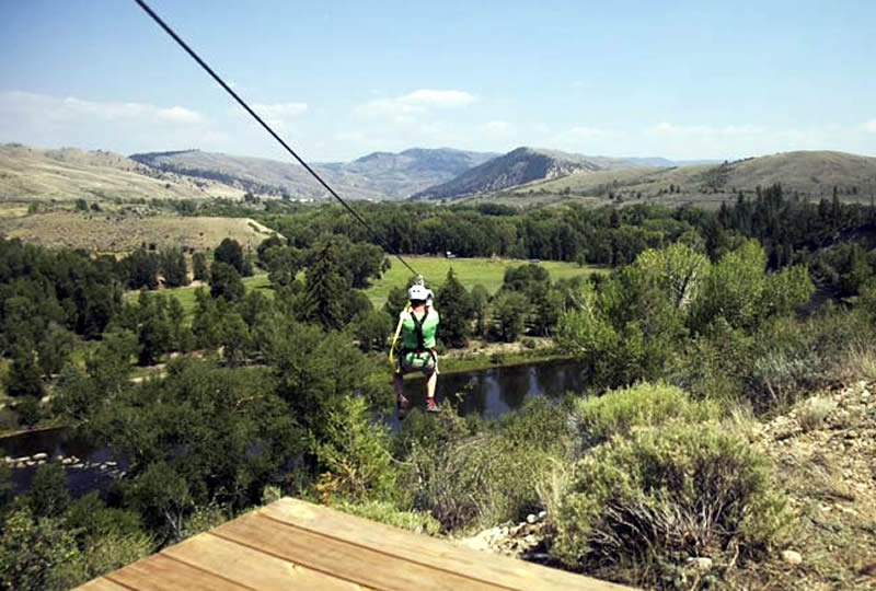 Zipline at Bar Lazy J Ranch in Parshall, Colorado