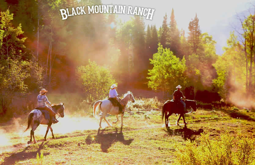 Horseback riding at Black Mountain Ranch in McCoy, Colorado