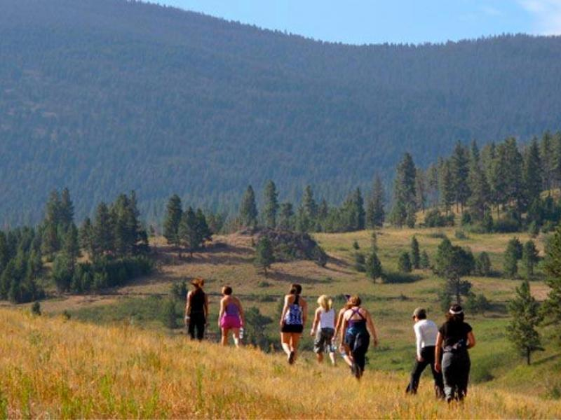 Hiking at Blacktail Ranch in Montana