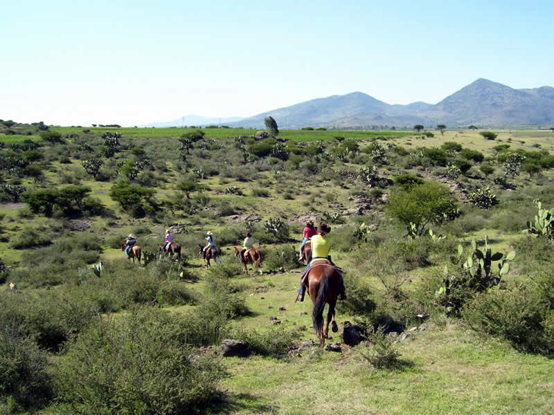 Horseback riding at Rancho Las Cascadas in Mexico