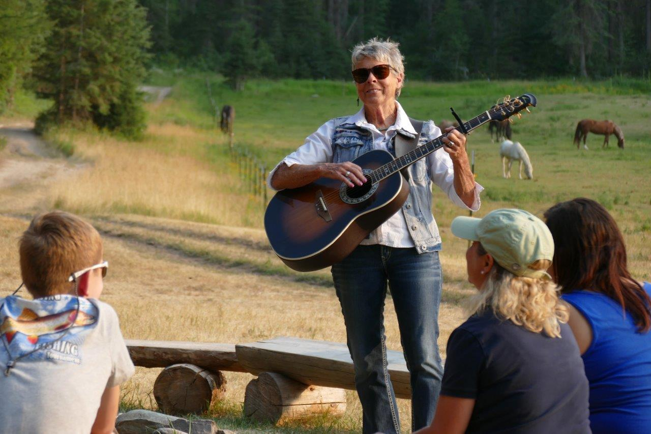 Time for a sing-along at Bar W Guest Ranch in Montana