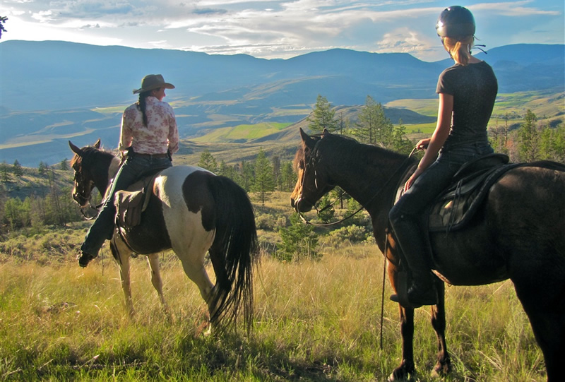 Horseback ridiing at Sundance Guest Ranch in Ashcroft, British Columbia, Canada
