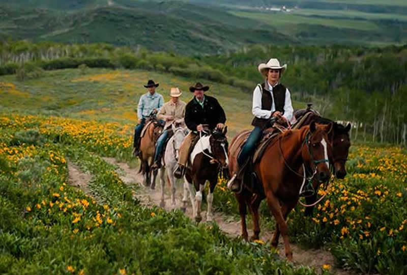 Horseback riding at Home Ranch in Clark, Colorado
