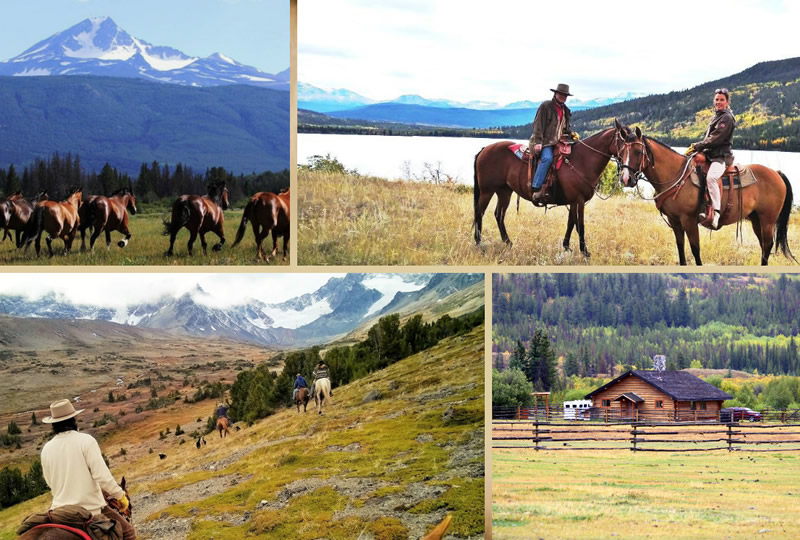 Activities at Elkin Creek Ranch in Nemaiah Valley, British Columbia, Canada