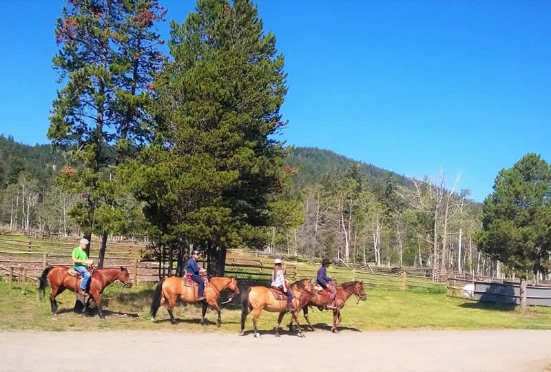 Horseback riding at Elkin Creek Ranch in Nemaiah Valley, British Columbia, Canada