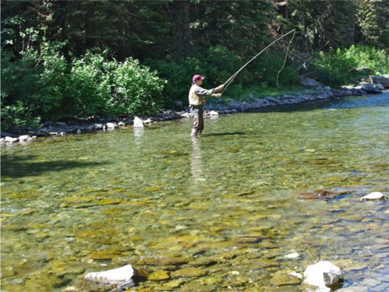 Fishing at Sweet Grass Ranch of southcentral Montana