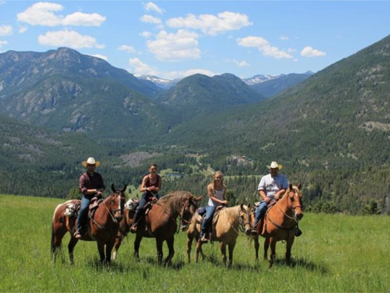 Horseback riding in Montana's beautiful Hawley Mountain Ranch