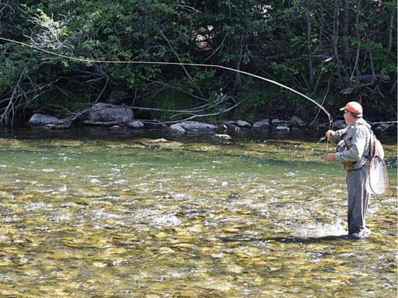 Fishing is awesome at Montana's beautiful Hawley Mountain Ranch