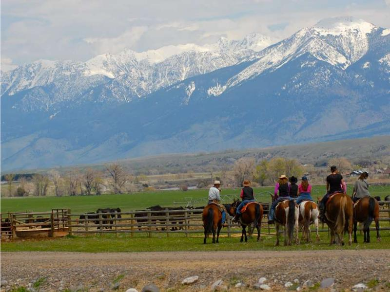 Mountain Sky is south of Bozeman, Montana activities include horseback riding, hiking, fly-fishing instruction, children's program,