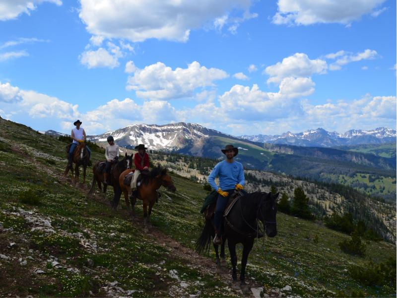 Horseback riding at beautiful Montana's Covered Wagon Ranch