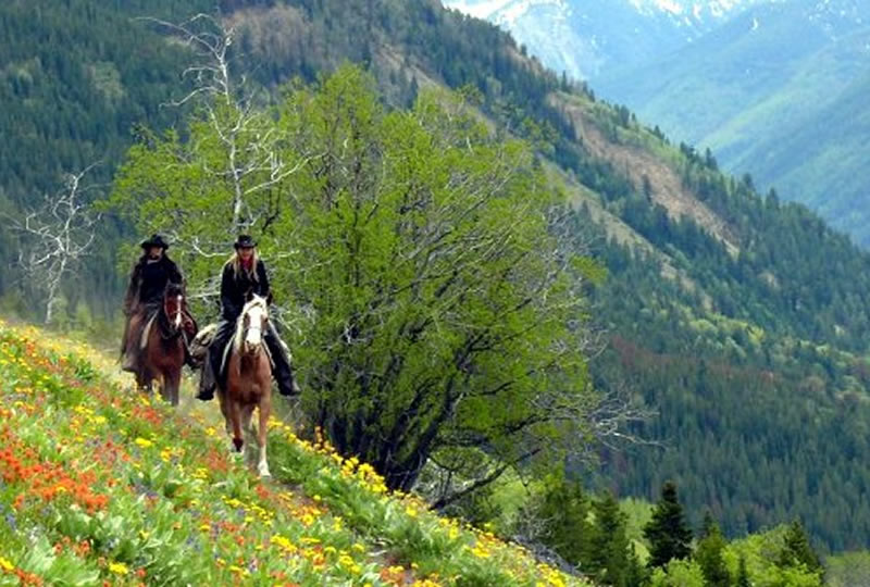 Horseback riding at Chilcotin Holidays in Gold Bridge, British Columbia, Canada
