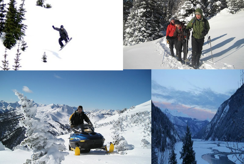 Winter Activities at Chilcotin Holidays in Gold Bridge, British Columbia, Canada