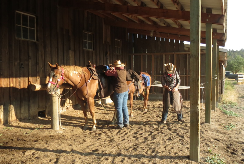 Horseback riding at Long Hollow Ranch in Oregon