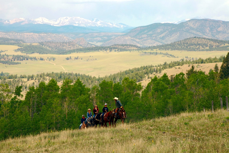 Horseback riding at Elk Mountain Ranch in Buena Vista, Colorado