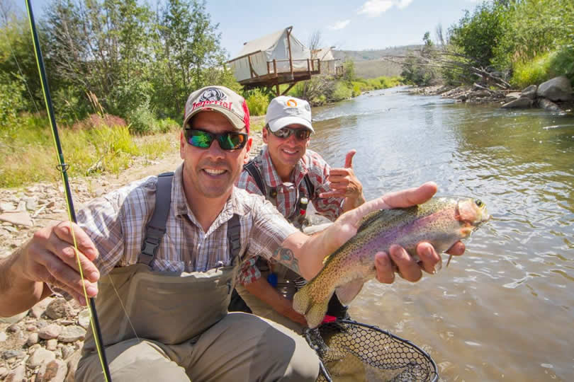Fishing at C Lazy U Ranch in Granby, Colorado